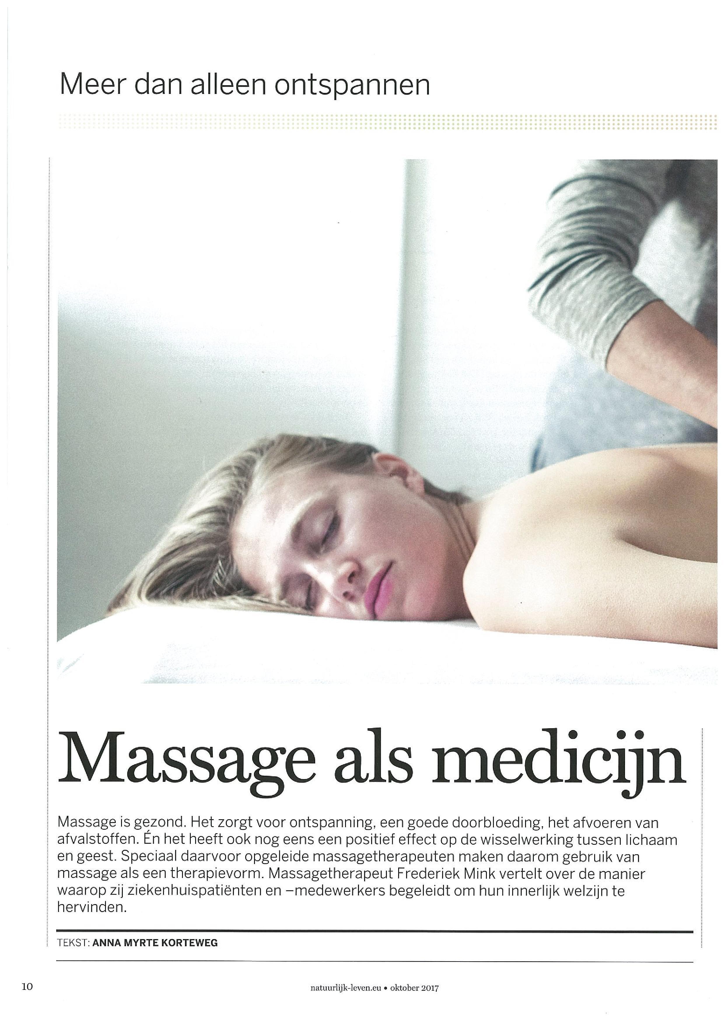 Massage als medicijn.page1